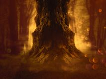 Spooky Tree in the Forest royalty free illustration