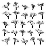 Spooky tree silhouette  isolated. EPS 8 Royalty Free Stock Photos
