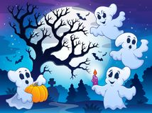 Spooky tree theme image 4 Stock Images