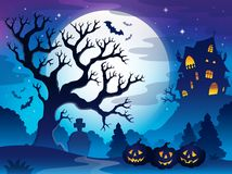 Spooky tree theme image 3 Stock Photography