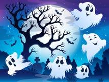 Spooky tree theme image 5 Stock Photo