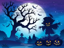 Spooky tree theme image 6 Royalty Free Stock Images