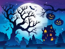 Spooky tree theme image 8 Stock Photo
