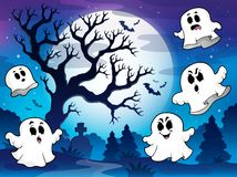 Spooky tree theme image 9 Royalty Free Stock Image