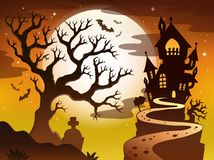 Spooky tree topic image 1 Royalty Free Stock Images