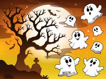 Spooky tree topic image 2 Royalty Free Stock Photography