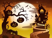Spooky tree topic image 3 Royalty Free Stock Image