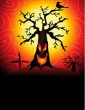 Spooky tree2. Spooky tree in the sunset royalty free illustration