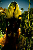 Spooky Woman`s Protrait Royalty Free Stock Photo