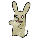 Spooky zombie bunny cartoon Royalty Free Stock Photo