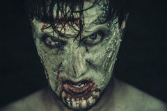 Spooky zombie man Royalty Free Stock Images