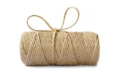 Spool of bale twine with a bow-knot isolated on white stock image