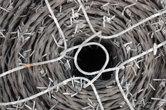 Spool of barbed wire Stock Images