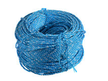 Spool of blue nylon rope Royalty Free Stock Photos