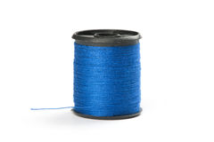 Spool of blue thread Stock Photo