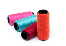 Spool of coloured  thread. Royalty Free Stock Photography