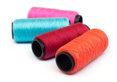 Spool of coloured  thread. Royalty Free Stock Photos