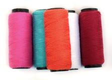 Spool of coloured  thread. Stock Photos