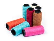 Spool of coloured  thread. Stock Image