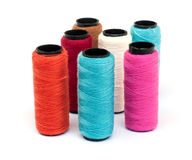 Spool of coloured  thread. Stock Images
