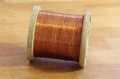 Spool of copper wire Royalty Free Stock Image