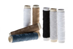 Spool with cotton thread Royalty Free Stock Image