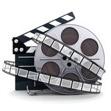 Spool and film. Film and clipboard symbol (done in 3d Stock Photo
