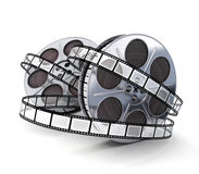 Spool and film. Two spool film symbol (done in 3d Royalty Free Stock Photos