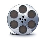 Spool and film. Spool film view front symbol (done in 3d rendering Royalty Free Stock Images