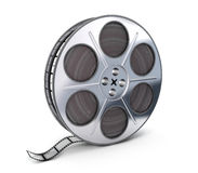 Spool and film. On white background (done in 3d Royalty Free Stock Image