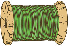 Spool of Green Thread Stock Images