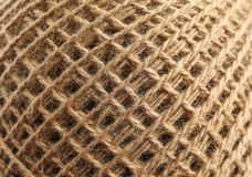 Spool of hemp rope as background stock images