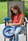 Spool  knitting Royalty Free Stock Image