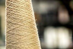 Spool of Natural Cotton Thread on Spool Stock Photos