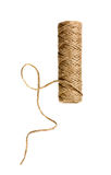 Spool of natural twine or rope isolated on white Royalty Free Stock Image