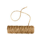Spool of natural twine or rope isolated on white Stock Photo