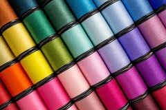 Spool Of Sewing Threads Stock Photo