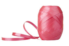 Spool of ribbon. Isolated on white background royalty free stock photography