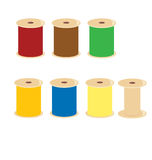 Spool of thread. Thread spools with different colors of thread on a white background royalty free illustration