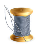 Spool of thread. On the white Royalty Free Stock Images