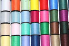 Spool of thread. Laid out in a number(line Royalty Free Stock Photo