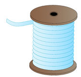 Spool of thread. Spool of blue thread on wooded spool - vector Royalty Free Stock Photo