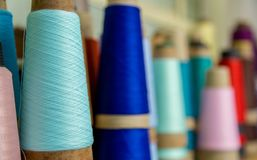 Spool of thread color pattern Royalty Free Stock Images