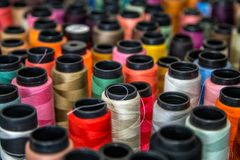 Spool of thread color pattern Stock Images