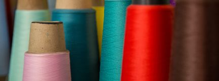 Spool of thread color pattern Stock Photos