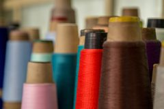 Spool of thread color pattern Royalty Free Stock Photography