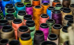 Spool of thread color pattern Stock Image