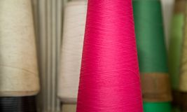 Spool of thread color pattern Royalty Free Stock Image