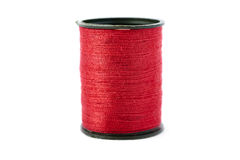 Spool of thread isolated over the white background Stock Photography