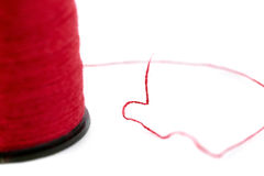 Spool of thread isolated over the white background Stock Image